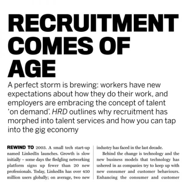 Recruitment Comes of Age